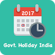 Govt. Holiday India 2017 - Public Holiday Calendar by AppsDreamers