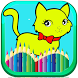 animal coloring pages- cat coloring pages for kids by coloring games