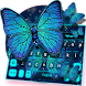 Blue Diamond Butterfly Keyboard Theme by Echo Keyboard Theme