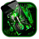 Neon Fire Broken Screen Theme by Cool Wallpaper