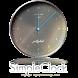 シンプルなアナログ時計ウィジェット by jfd