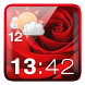Rose Clock Weather Widget by Best Widgets Apps