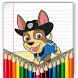 coloring pages for paw patrol by Free application