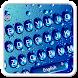 Blue glass Waterdrop Keyboard Theme