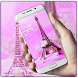 Pink eiffel tower paris theme by Free new hot colorful themes
