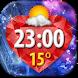 Diamonds Clock Weather Widget by Super Widgets