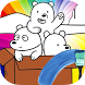 Color book of bare bears friends