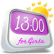 Clock Weather For Girls by Super Widgets