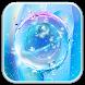 Blue Transparent Water Droplets-APUS Launcher by CoolAppPub