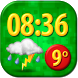 Funny Clock Weather Widget by Super Widgets