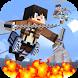 Titan Attack on Block Kingdom by Survival Games Studio