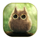 Cute owl Typewriter by live wallpaper collection