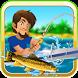 Deep Lake Reel Fishing by Dib Bit Studio