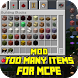 Mod Too Many Items for MCPE by Major Mods