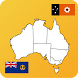 Australia State Maps and Flags by Ralph DMello