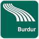 Burdur Map offline by iniCall.com
