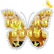 Gold Diamond Butterfly Keyboard Theme by NeoStorm We Heart it Studio