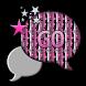 GO SMS THEME/PinkStarsNStrips by RDLCustoms