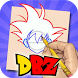 How To Draw DBZ Super Saiyan by PremApp