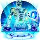 Neon 3D Robot Keyboard by The Best Android Themes