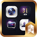 Luxury Leather Launcher theme by SK techx for themes