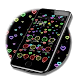 Neon heart shaped launcher themes