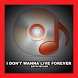 I Dont Wanna Live Forever Song by Sonic Star Entertainment