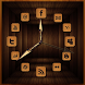 Wooden Analog Clock by Let's Go Apps Store