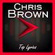 Chris Brown Top Lyrics by Altarra