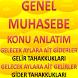 GENEL MUHASEBE TAHAKKUK HS by Kenan IŞIK