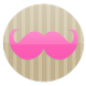 GirlyMustache Go Sms by SugarBunPrints
