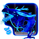 Neon Blue Dragon 3D by Launcher Design