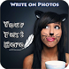 Write Text on Photos by Kumar Apps