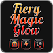 Fiery Magic Glow Black Theme by Jellytap