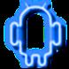 Neon Blue GO Launcher Theme by AVillardoArts