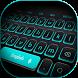 Blue Light Black Keyboard by Keyboard Design Paradise