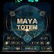 Maya totem magic games keyboard theme by COOL THEME
