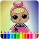 How To Color LOL Surprise Doll (LOL surprise game) by AdamStudios