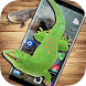 Lizard in phone screen funny joke by Funworld