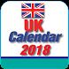 UK Calendar 2018 by CalendarCraft