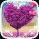 Purple Heart Tree Theme by Heartful Theme