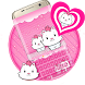 cute pink kitty by Keyboard Theme Factory