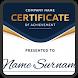Certificate Maker App by sudintech