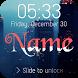 Wave Name Lock Screen by AquaQueen