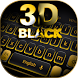 3D Black Keyboard Theme by Keyboard Design Paradise