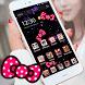 Cute Cat Theme Pink Bowknot Kitty Head Icons by wu xumo