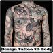 Design Tattoo 3D Body by warucity