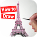 How to draw Eiffel Tower by holy artist