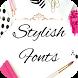 Stylish Font for FlipFont , Cool Fonts Text Free by Free FlipFont Studio