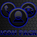 ICON PACK DARK SPACE 2 BLUE by Tak Team Studio
